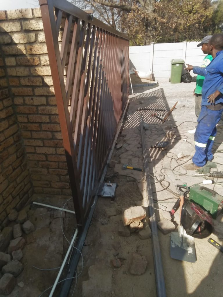 Gauteng Technical Services gate installation